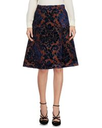 L'Autre Chose Knee Length Skirt - Blue
