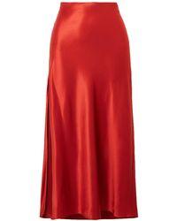 Fleur du Mal Long Skirt - Red