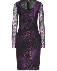 Angelo Marani Short Dress - Purple