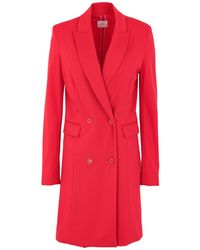 ..,merci Overcoat - Red