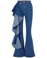 Solace London Denim Trousers - Blue