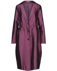 Massimo Alba Overcoat - Purple