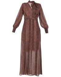 LE COEUR TWINSET Long Dress - Brown