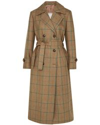 Giuliva Heritage Collection Christie Checked Wool Coat - Natural