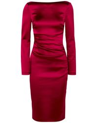 Talbot Runhof Knee-length Dress - Red