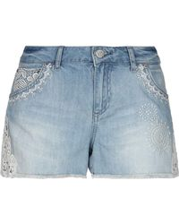 Desigual Denim Shorts - Blue