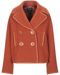 Fontana Couture Coat - Orange