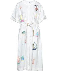 Mira Mikati Midi Dress - White
