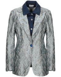 History Repeats Suit Jacket - Blue