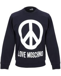 Love Moschino Peace Sign Jumper - Blue