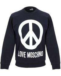 Love Moschino Peace Sign Sweater - Blue