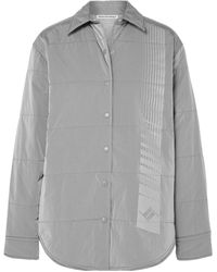 T By Alexander Wang Synthetic Down Jacket - Grey