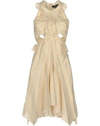 Isabel Marant Knee-length Dress - Natural