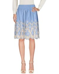 MY TWIN Twinset Knee Length Skirt - Blue