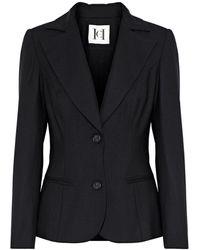 Carolina Herrera Woman Wool-blend Twill Blazer Black