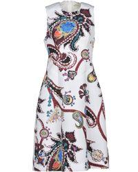 Mary Katrantzou Knielanges Kleid - Weiß