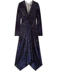 House of Holland Robe midi - Bleu