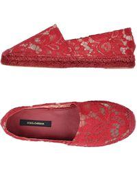 Dolce & Gabbana Espadrilles - Rouge