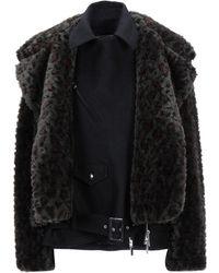 Sacai - Teddy coat - Lyst