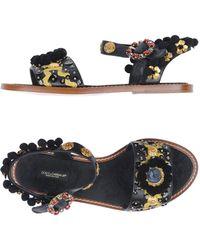 Dolce & Gabbana Sandales - Noir
