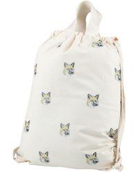 Maison Kitsuné Backpacks & Bum Bags - White