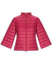 Stefanel Synthetic Down Jacket - Red