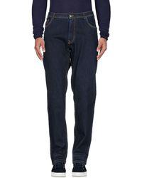Harmont & Blaine Denim Trousers - Blue