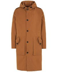8 by YOOX Overcoat - Brown