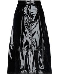 Tibi 3/4 Length Skirt - Black
