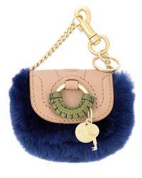 See By Chloé Key Ring - Blue