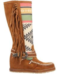 Divine Follie Knee Boots - Brown