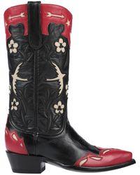 Jessie Western Knee Boots - Black