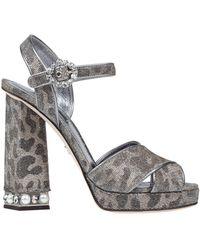 Dolce & Gabbana Sandals - Metallic