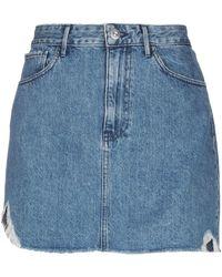 3x1 Denim Skirt - Blue