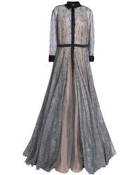 Carolina Herrera Vestido largo - Metálico