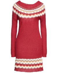 Pink Memories Short Dress - Red