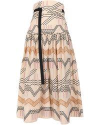 Eudon Choi 3/4 Length Skirt - Natural