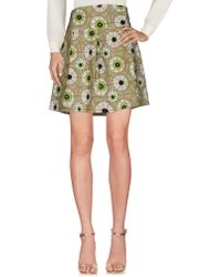 Bruno Manetti Knee Length Skirt - Green