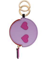 Lancel Key Ring - Purple