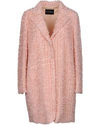 Emporio Armani Lange Jacke - Pink