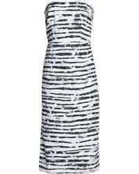 MILLY Knielanges Kleid - Weiß