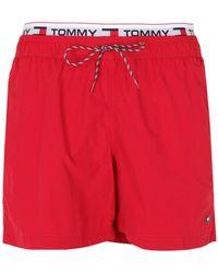 Tommy Hilfiger Bañadore tipo bóxer - Rojo