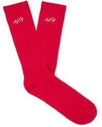 N/A - Necessary Anywhere Calcetines y medias - Rojo