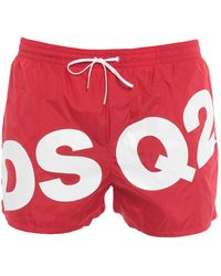DSquared² Badeboxer - Rot