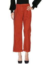 Massimo Alba Casual Pants - Red