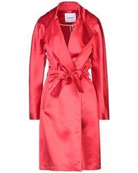 Ainea Overcoat - Red