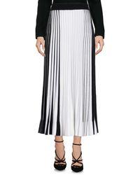 Mrz 3/4 Length Skirt - White