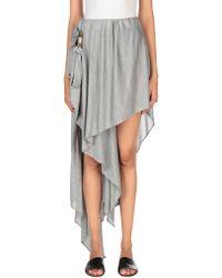 Anthony Vaccarello Mini Skirt - Grey