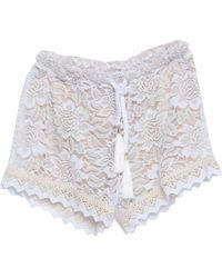 4giveness Shorts & Bermuda Shorts - White