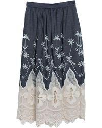 Camicettasnob Denim Skirt - Blue